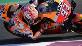 MotoGp Qatar: Marquez guida nelle seconde libere, Rossi sedicesimo