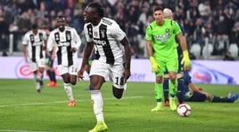 Serie A, Juve-Udinese 4-1: Kean strepitoso, doppietta! Ronaldo in panchina