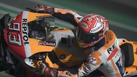 MotoGp Qatar: Marquez guida anche nelle Fp3, Rossi va in Q1