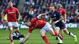 Rugby Sei Nazioni, Scozia-Galles 11-18: Dragoni a un passo dal Grande Slam