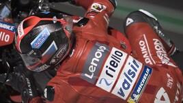 MotoGp Qatar: Petrucci primo nelle Fp4, Rossi cerca il set up giusto