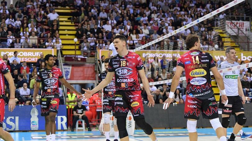 Volley: Superlega, Perugia batte Padova e blinda il primo posto