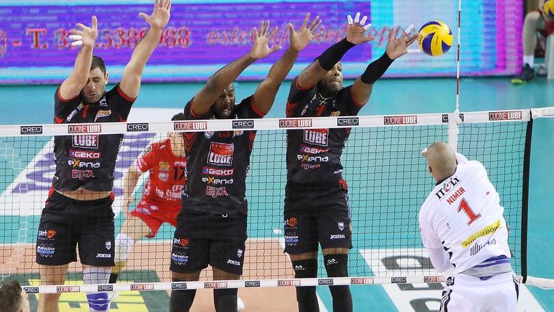 Volley: Superlega, Civitanova spegne una buona Milano