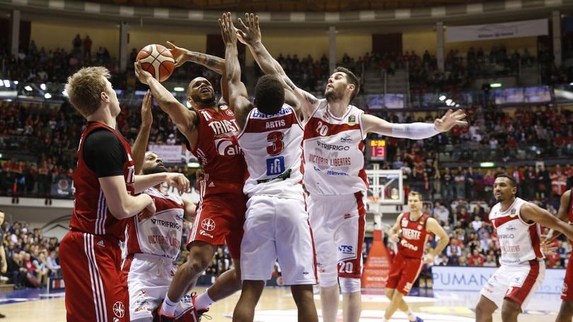 Basket Serie A, Trieste travolge Pesaro: 105-68