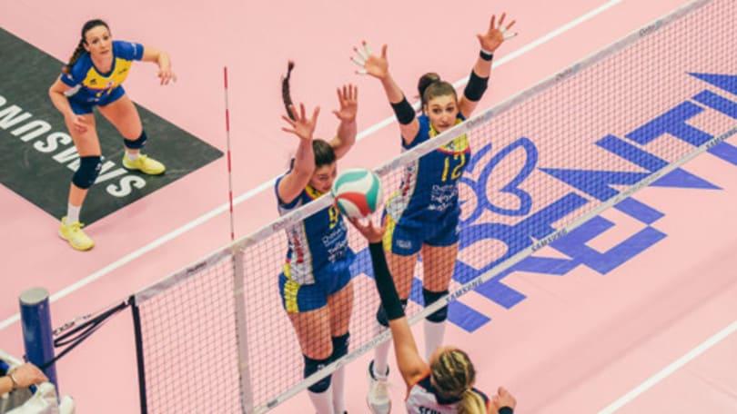 Volley: A2 Femminile, Pool Promozione,Trento batte Mondovì e consolida il secondo posto