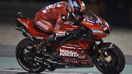 MotoGp Qatar, nel warm up davanti c'è Petrucci, Rossi risale