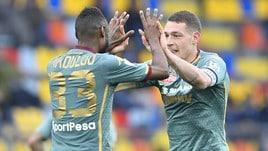 Serie A Frosinone-Torino 1-2, il tabellino