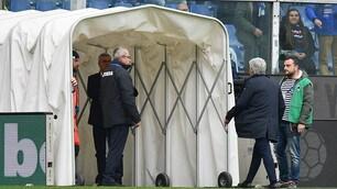 Gasperini, manata a un dirigente della Sampdoria: la fotosequenza