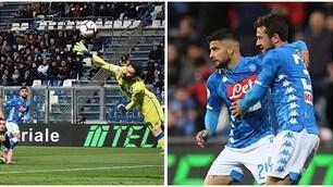 Insigne salva il Napoli nel finale