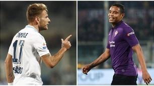 Immobile illude la Lazio, Muriel salva la Fiorentina