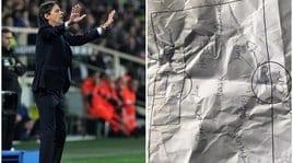 Lazio, il 3-5-2 di Inzaghi: ecco il foglietto degli appunti al Franchi