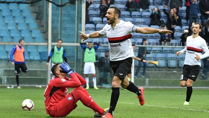 Serie A Sampdoria, Quagliarella: «Credo ancora nell'Europa»