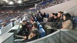 Roma-Empoli, De Rossi ospita i suoi compagni nel box dell'Olimpico