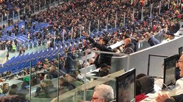 Roma, Manolas show tribuna: scatenato nei minuti finali