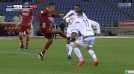 Roma-Empoli, la moviola: Florenzi, il rosso non c'è. Giusto annullare il 2-2