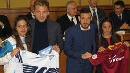 """Campagna """"No bulli"""", Florenzi: «La squadra mi ha salvato la vita». E Immobile si emoziona"""
