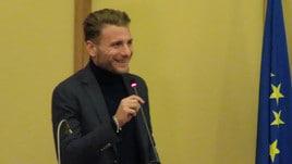 Lazio, Immobile con il microfono: «Peggio di tirare un rigore». Lotito: «In campo non si emoziona»