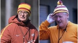 Allenamento Roma, Ranieri in campo con il berretto di lana alla Liedholm