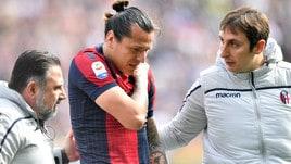 Serie A Bologna, tegola Santander: 3 settimane di stop