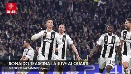 Ronaldo trascina la Juve ai quarti di Champions League