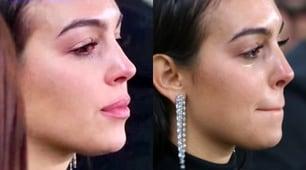 Georgina in lacrime per la tripletta di Cristiano Ronaldo
