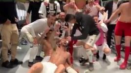 Lo spogliatoio Juve aspetta re Ronaldo. Poi i festeggiamenti