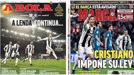 Juve, la stampa estera celebra l'impresa di CR7