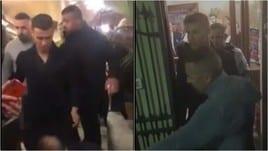 Ronaldo al ristorante dopo la tripletta: ovazione dei tifosi della Juve