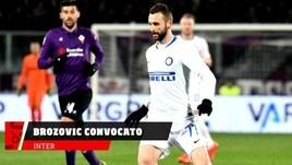 Inter, Brozovic convocato per l'Eintracht
