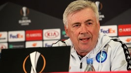 Europa League Napoli, Ancelotti: «Arsenal? Difficile ma affascinante»