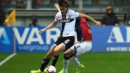 Serie A Parma, allenamento in gruppo per Inglese