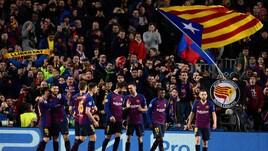 Champions, festa al Camp Nou: Messi trascina il Barcellona ai quarti