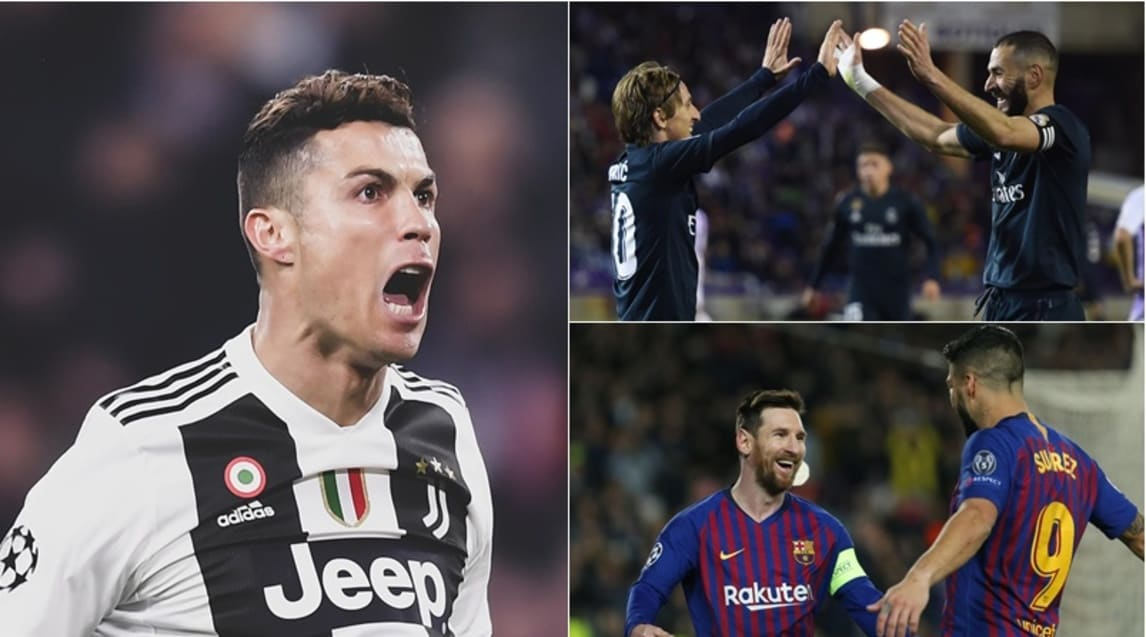 Real Madrid, Bayern Monaco, Barcellona...grandi club in pole position ma poi c'è lui: CR7. Da solo mette in rete 125 palloni e precede Messi (108), Raul (77) e Filippo Inzaghi (70)
