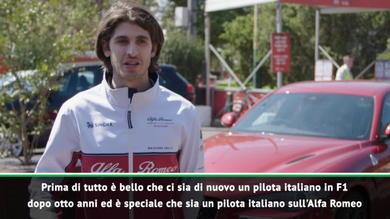 """Giovinazzi: """"Finalmente un italiano in F1"""""""