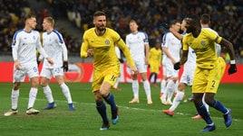 Europa League: Chelsea in surplace, il Valencia passa nel recupero