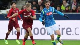 Europa League Salisburgo-Napoli 3-1, il tabellino