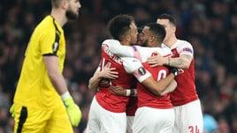 Europa League: rimonta Arsenal, Chelsea in surplace