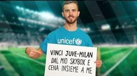 Miralem Pjanic per l'UNICEF: lancia la prima campagna di raccolta fondi su Wishraiser