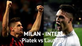 Milan-Inter è Piatek contro Lautaro