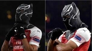 "Aubameyang, l'esultanza ""mascherata"" alla Black Panther"