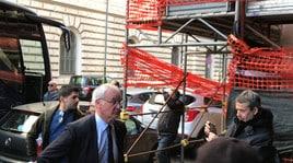 La Roma in partenza per Ferrara. I tifosi caricano Ranieri e Dzeko