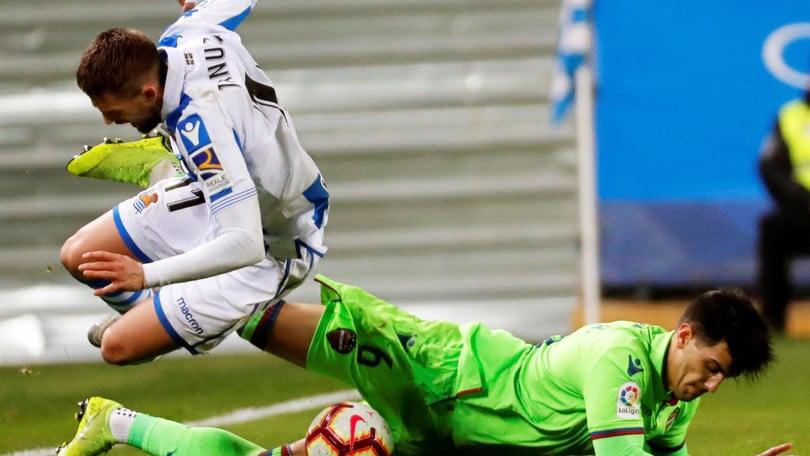Liga, il Levante ferma la Real Sociedad: 1-1 a San Sebastián