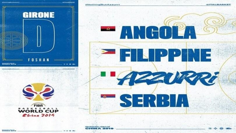 Mondiali di basket: Italia nel girone con Serbia, Filippine ed Angola