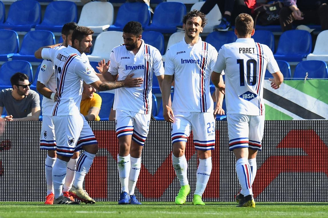 Sassuolo-Sampdoria 3-5: Giampaolo sogna l'Europa