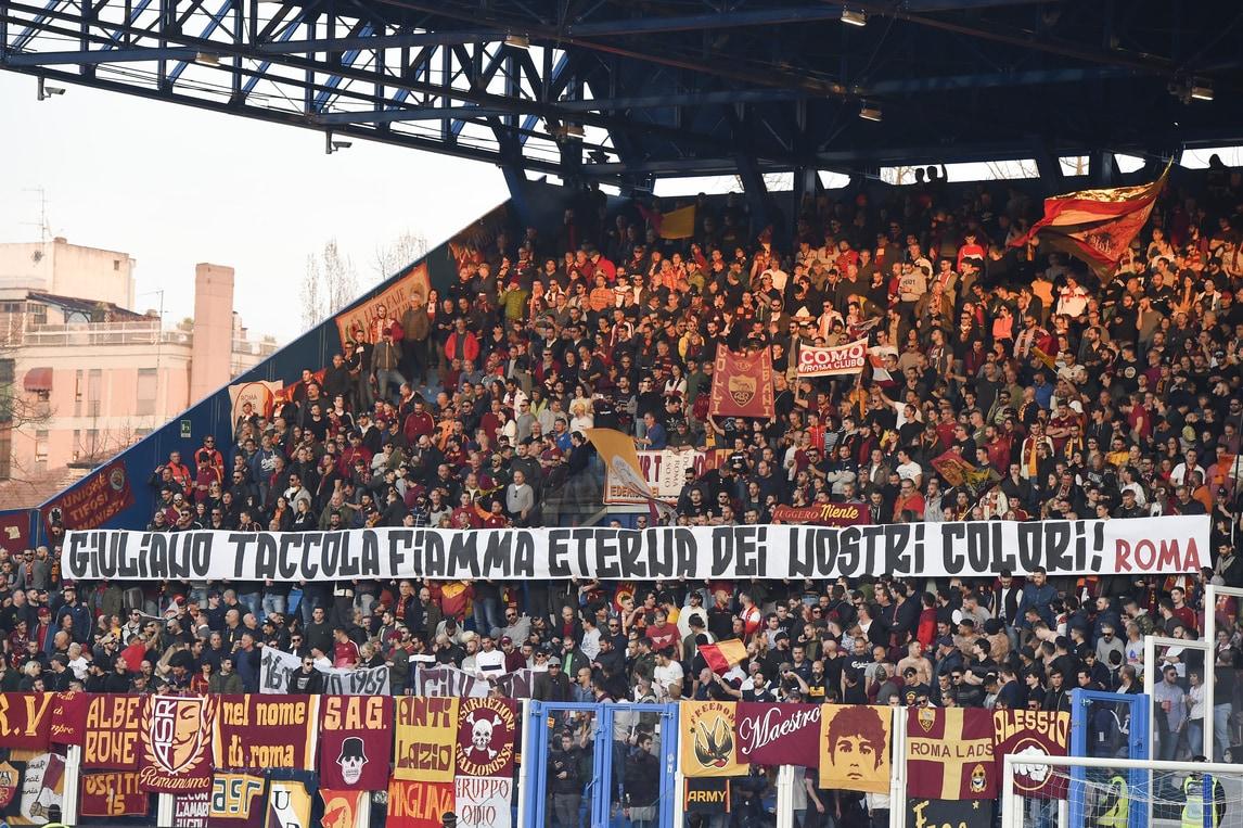 Spal-Roma, i tifosi ricordano Taccola: «Fiamma eterna dei nostri colori»