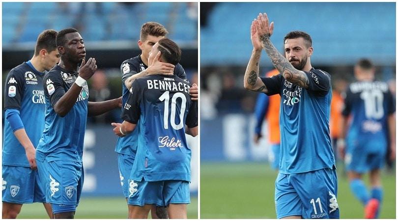 L'Empoli risponde a Spal e Bologna e spedisce il Frosinone a -8