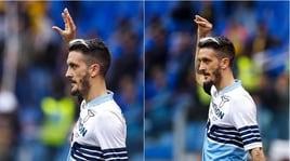 Luis Alberto, gesto polemico dopo il gol