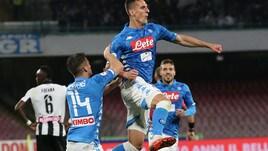 Serie A Napoli-Udinese 4-2, il tabellino