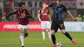 Serie A Milan-Inter 2-3, il tabellino