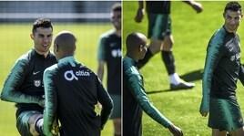 """Ronaldo e Joao Mario fanno coppia: l'interista """"tira"""" Cristiano"""